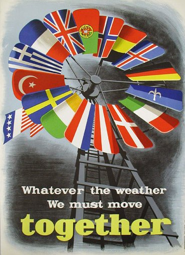 One of the fine posters produced to encourage the success of the Marshall Plan (European Reconstruction Plan)